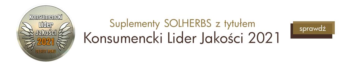 Suplementy SOLHERBS uhonorowane zostały tytułem Konsumencki Lider Jakości 2021